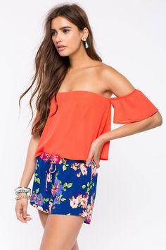 Цветочные шорты Размеры: S, M, L Цвет: синий с принтом Цена: 1122 руб.  #одежда #женщинам #шорты #коопт