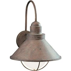 Kichler kk11099ni seaside entrance outdoor wall light brushed kichler kk9023ob seaside entrance outdoor wall light olde brick at ferguson mozeypictures Image collections