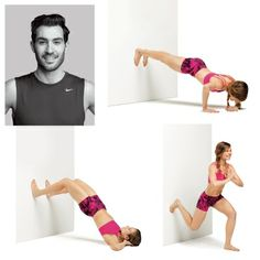 Welcome to the wall workout: No-equipment moves that require only a wall. Tone your abs, butt, thigh