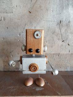 T.A.N.K. wooden robot by TinyBotsShop on Etsy