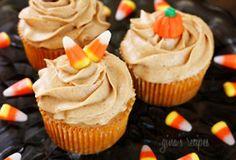 Halloween cupcakes! #cupcakes #halloween #candycorn
