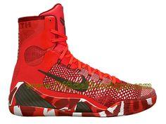 dab8e8309203 Chaussures BasketBall Nike Pas Cher Pour Homme Nike Kobe 9 IX Elite  Cramoisi brillant Blanc Noir 630847-600