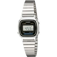 Casio Daily Alarm Digital Watch (62 ILS) ❤ liked on Polyvore featuring jewelry, watches, stainless steel jewelry, stainless steel jewellery, bezel watches, bezel jewelry and digital wrist watch