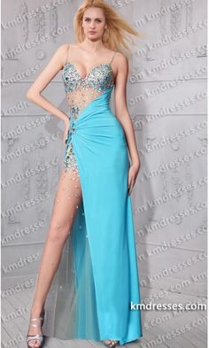 amazing lavishly jeweled sexy thigh high split dress.prom dresses,formal dresses,ball gown,homecoming dresses,party dress,evening dresses,sequin dresses,cocktail dresses,graduation dresses,formal gowns,prom gown,evening gown.