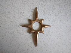 Vintage Mid Century Modern Atomic Starburst Brass by AdoredAnew