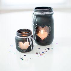 DIY : Lumignons de mariage « cœur »