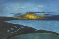 'Poets Walk at Sunset' by Richard Cartwright (pastel)