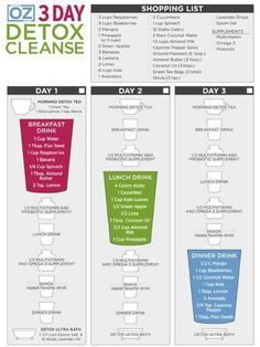 Dr. Oz's 3-Day Detox Cleanse - I would substitute Mila for the flax seeds