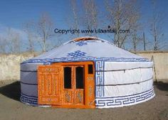 Guide to installing material covers on traditional mongolian yurt
