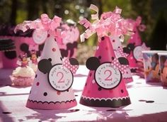 Minnie Mouse Birthday Party Hats