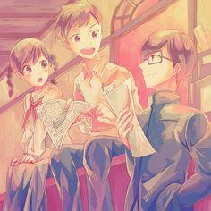 Umi, Shun and Shiro - From Up on Poppy Hill / Kokuriko-zaka kara by 百瀬 (http://www.pixiv.net/member.php?id=734517)