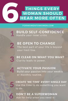 6 things every woman should hear to help her lead her best life - www.forwomentowomen.com
