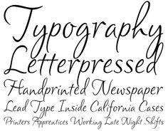 Clarissa Font - A pretty handwriting typeface, with lowercase letters that are intentionally different heights, so the text appears to dance on the page.
