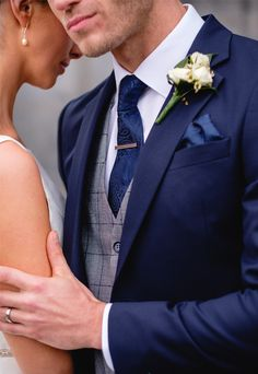 wedding suits men The Irish Suit Company Every Gro - Blue Wedding Suit Groom, Navy Groom, Wedding Tux, Best Wedding Suits For Men, Groom Wear, Groom Attire, Groom Outfit, Marriage Suits, Blue Suit Men