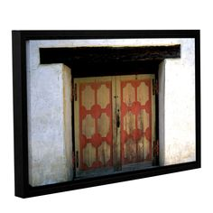 Mission Door by Kathy Yates Floater Framed Photographic Print on Gallery Wrapped Canvas