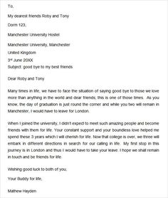 Farewell letter to colleagues sample farewell letter pinterest letters of recommendation for friends expocarfo Images