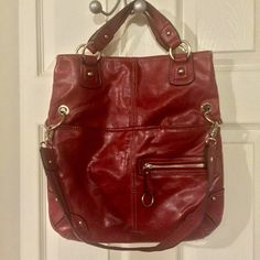 2 style purse Carry it long or fold it down...either way, you'll turn heads with this colorful handbag. Nine West Bags Shoulder Bags