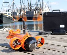 HydroView The HydroView is a remote-controlled underwater vehicle that allows you to explore the sea without ever getting wet. It has an onboard camera that will stream high quality video and photos wirelessly back to your iPad. But it's not just for finding Nemo. You can use it to search for lost objects, inspect your anchor and boat hull, & confirm that you're floating in areas safe for your vessel and passengers.