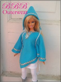 Barbie Clothes Outerwear Winter Blue by BarbieBoutiqueBasics