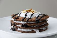 Chocolate Coconut Protein Pancakes