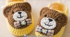 New Crochet Patterns Baby Boots Free Knitting Ideas Booties Crochet, Crochet Baby Boots, Crochet Teddy, Crochet Baby Clothes, Crochet Shoes, Crochet Slippers, Baby Booties, Crochet Pig, Baby Shoes Pattern