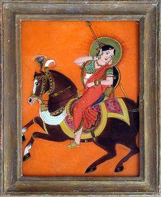 Hinterglasbild Indien, 19. Jahrhundert, Kandinsky, Equestrian, Wisdom, Paintings, Gallery, India, Idea Paint, Art Ideas, Corning Glass
