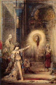 The Apparition, 1876 by Gustave Moreau. Symbolism. religious painting