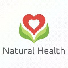 This logo combines the idea of plants being natural, and a heart for health. It presents the name of the company without words.