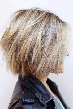 Choppy-Bob-Hair New Short Layered Hairstyles 2018 #bobstyles #bobhairstyles