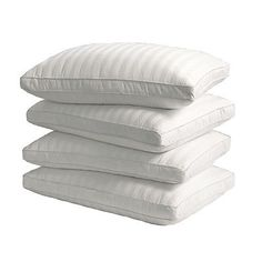 Bed Pillows 20445: Supreme 350 Thread Count Cotton Damask Down Alternative Pillow (Set Of 4) -> BUY IT NOW ONLY: $44.99 on eBay!