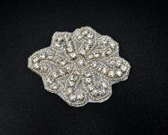 Small Rhinestone applique, crystal Applique for flower girl, garter, Headpieces, Gowns, Costumes, DIY weddings, hair clips - RAY26 by TheBrightShopDIY on Etsy https://www.etsy.com/listing/237798632/small-rhinestone-applique-crystal