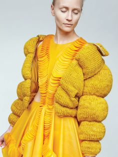 JULIE EILENBERGER - from 'Marry Me...--Someone had an emotional upset while knitting this outfit, and it shows!