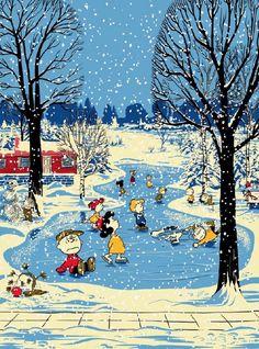 Charlie Brown Christmas illustration.