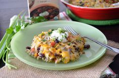 Mexican Vegetarian Rice Bake from KatiesCucina.com
