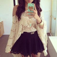 blouse crochet skirt black turquoise iphone phone cover jewels dress clothes lace bag style cute girly shirt bat wings one shoulder lace flowy top off the shoulder sweater long dleeve shirt long sleeve shirt tank top see through top t-shirt colorful pastel loose sweater white beautiful white hipster flare top black skirt cream color lace top throw on long sleeves belt lace crop top lace blouses sexy short dresses comfy summer outfits white lace top black lace skirt boho necklace crop tops…