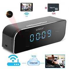 Wiseup™+8GB+1280x720P+Wifi+Network+Hidden+Camera+Clock+Motion+Activated+Video+Recorder+Support+Android+iPhone+APP+Remote+View+7/24+Hours+Working