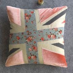 BlissLiving Home Union Jack Decorative Pillow Cover London Collection Unique #BlissLivingHome #Contemporary