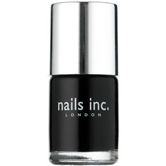 Nails inc Nail Polish, Black Taxi 0.33 fl oz (10 ml) ($7.60) ❤ liked on Polyvore featuring beauty products, nail care, nail polish, nails, makeup, beauty, black, fillers, nails inc nail polish and nails inc.