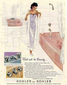 1950's Bathroom.  I had this exact set in my bathroom.  C.Traul (Ottumwa, Iowa)