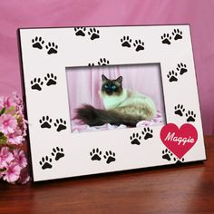 Personalized Paw Prints Printed Picture Frame