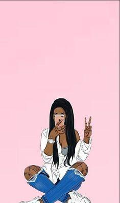 Wallpaper black girl drawing 57 new Ideas<br> Black Art Painting, Black Artwork, Black Love Art, Black Girl Art, Little Girl Wallpaper, Heart Wallpaper, Trendy Wallpaper, Black Wallpaper, Drawings Of Black Girls