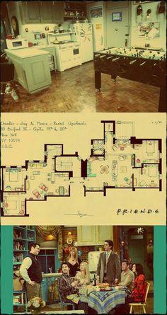 54 ideas apartment layout friends for 2019 Friends Tv Show, Serie Friends, Friends Episodes, Friends Cast, Friends Moments, I Love My Friends, Friends Forever, Friends Tv Quotes, 3 Friends