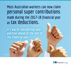 Are you entitled to a tax deduction on personal super contributions? -