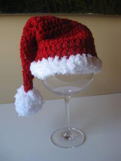 Crochet Baby Hat Free Shipping Santa Christmas by LocustTree, $14.00