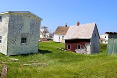 Weeble Wobble houses in Prince Edward Island, Canada.