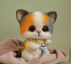 Toy animals, handmade.  Fair Masters - handmade.  Buy Kitty Busia.  Handmade.  Orange, cats, toy, sherst100%