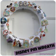 Violet Imperfection: Disney Pin Wreath