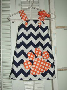 Auburn Tigers Dress. How adorable & this would be so easy to make.