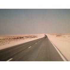 Towards Umm Bab #qatar #desert My Photos, Country Roads, Instagram