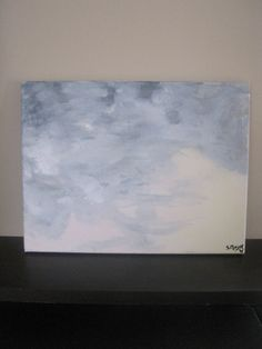 Rosewind acrylic sky landscape painting 11x15 by sweetstellas, $30.00